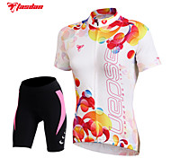 TASDAN Bike/Cycling Shorts / Jersey / Padded Shorts / Arm Warmers / Jersey + Shorts / Tops Women's Short SleeveBreathable / Quick Dry /