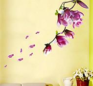 Цветы / Пейзаж Наклейки Простые наклейки Декоративные наклейки на стены,PVC материал Съемная Украшение дома Наклейка на стену