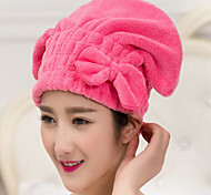 Microfiber Bowknot Hair-drying Cap/Towel Wrap Turban Hat Quick Dry Bath Tool New