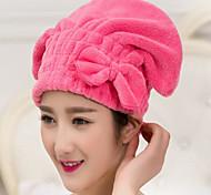 microfibra bowknot del casquillo del pelo de secado / toalla envoltura sombrero de turbante herramienta de baño de secado rápido nueva