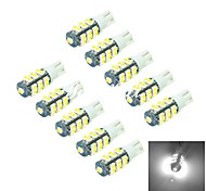 YouOKLight® 10PCS T10 1W 25x5050SMD 40lm 6000K White Light LED Car Lamp (DC 12V/)