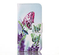 Butterfly Painted PU Phone Case for iphone5/5S/SE