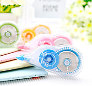 2PCS The Large Capacity 18 M * 4 Pens Stationery Office Correction Tape Altered Belt(Style random)