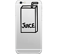 Hat-Prince Juice Box Pattern Removable Decorative Sticker for iPhone