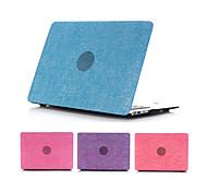 """borracha revestidas denim toque suave de plástico de capa dura caso de corpo inteiro para o MacBook Air 11 """"/ 13"""""""