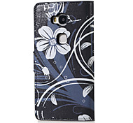 White Flower Magnetic PU Leather wallet Flip Stand Case cover for Huawei Honor 5X