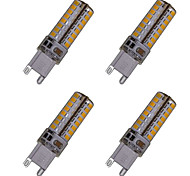 4pcs G9 5W 104x3014SMD 450LM 3500K 6000K Warm White/Cool White Waterproof Home / Office LED Corn Lights  AC110V