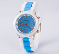 Woman's Fashion Silicone Analog Display Quartz Watch Cool Watches Unique Watches