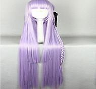 замечательный супер длинные kniting фиолетовый косплей парик с ткачество хвост синтетических волос парики из натуральных анимированные