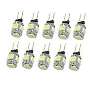 10x g4 gz4 mr11 1.5w 5 led 5050 синий / красный / теплый белый / зеленый / желтый / белый светодиодный фонарик для внутреннего освещения dc12v