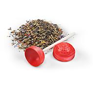 Sweet Tea Lollipop Tea Infuser Loose Tea Leaf Strainer Herbal Spice Silicone Filter Diffuser(Random Color)