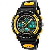 Kid's Dual Time Zones Analog & Digital Rubber Band Sport Watch Cool Watches Unique Watches