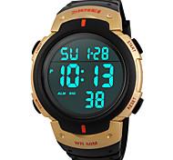 Sports Watch Heren / Dames / Uniseks LED / Waterbestendig / Snelheidsmeter / Stopwatch / s Nachts oplichtend Japanse quartz Digitaal