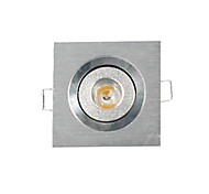 3W LED Panel Lights / LED Recessed Lights / LED Ceiling Lights Recessed Retrofit 1 High Power LED 200-300 lm Warm White DimmableAC