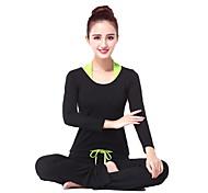 Yoga Ensemble de Vêtements/Tenus Respirable / Lisse Haute élasticité Vêtements de sport Femme-Sportif,Yoga / Fitness / Sport de détente