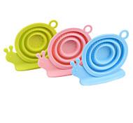 Silicone Snails Shape Loose Tea Leaf Strainer Herbal Spice Tea Infuser(Random Color)