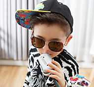 Square Full-Rim Plastic Resin Fashion Sunglasses for Kids