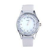 SINOBI® Ladies Fashion Wrist Quartz Watch White Silicone Women Wristwatches With Diamond Girls Watches Relojes Mujer Cool Watches Unique Watches