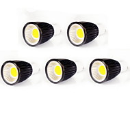 5pcs MORSEN® 9W GU10 700-750LM Support Dimmable Cob Led Spot Light Lamp Bulb