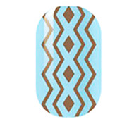 Brown Hollow Nail Stickers