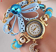Women's Three Winding Small Golden Pendant Quartz Watch Cool Watches Unique Watches