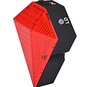 FJQXZ 8 LED 3 Mode Red Rechargeable Diamond Shape Bike Laser Taillight