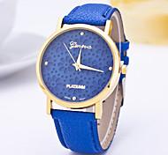 Женские Модные часы Повседневные часы Кварцевый / PU Группа Цветы Повседневная Синий Фиолетовый Темно-синийСветло-синий Лиловый