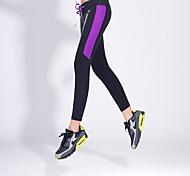 Pantaloni da yoga Pantaloni Traspirante Naturale Elastico Abbigliamento sportivo Giallo Rosa Viola Per donnaYoga Esercizi di fitness