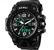 Men's Sport Watch Digital Watch LCD Calendar Chronograph Water Resistant / Water Proof Dual Time Zones Sport Watch Digital PU Band
