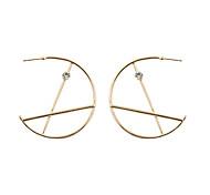 Fashion Women Stone Set Geometric Big Drop Earings