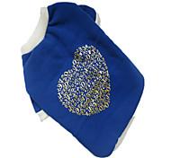 Perros Camiseta Azul Ropa para Perro Invierno Corazones
