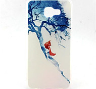 Blue Tree Pattern TPU Material Phone Case for Samsung A5/A5(2016)/A7(2016)/A3(2016)