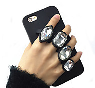 For iPhone 6 Case / iPhone 6 Plus Case Shockproof / Rhinestone Case Back Cover Case 3D Cartoon Soft SiliconeiPhone 6s Plus/6 Plus /