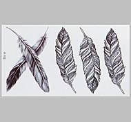 Tatuaje de la pluma de la manera pegatinas impermeable tatuaje