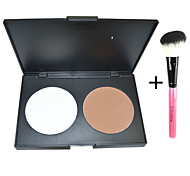 Double Major Powdery cake+1pcs Makeup  Brush