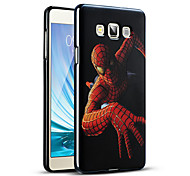 Relief Graphic Pattern Fashion Silicone Material Back Cover for Galaxy A7