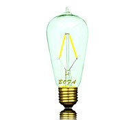 E26 E27 B22 110V 220V ST58 2200K-3500K 100-200lm 2W 2LED Light Bulb Edison