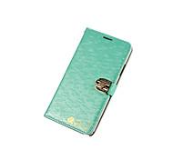 luxe water cube kroon diamanten gesp pu lederen case voor de Samsung Galaxy S-serie kaartsleuf standaardafdekking