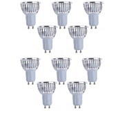 10pcs  4W GU10/GU5.3/E27/E14 450LM Light LED Spot Lights(90-260V)