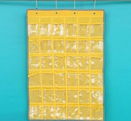 36 Grid Oxford Cloth Wall Pouch Storage Units,Assorted Color