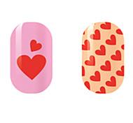 красный любовь наклейки полые ногтей