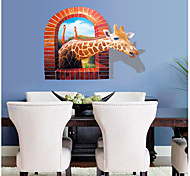 AY8007 Aiwall 3D Sticker Giraffe Wall Stickers for Home Decorations Wall Decals Wall Art Decor