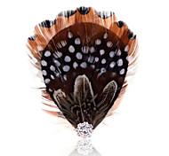 bijoux d'été Broche plume millésime pour les femmes
