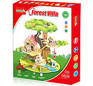 3D Puzzles / Paper Model For Gift  Building Blocks Model & Building Toy House Plastic Above 6 Yellow / Green Toys