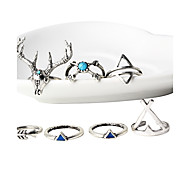 HUALUO®2016 new antlers Ring Set Five-piece bohemian