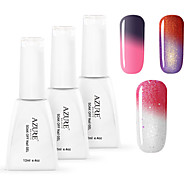 Azure 3 Pcs/Lot Nail Gel Polish Chameleon Nail Art Soak Off UV  Nail gel (12ml,#51+#55+#56)