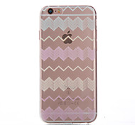 Stripe Thin Material Transparent TPU Phone Case for iPhone 5/5S /5E/6/6S/6 Plus/6S Plus