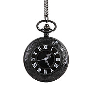 Unisex Pocket Watch Large Roman Numerals Retro Classic Black Clamshell Shiying Huai Table Cool Watches Unique Watches
