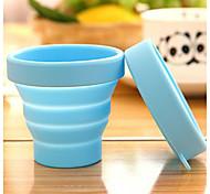 Portable Travel Silicone Folding Cups Outdoor sports Telescopic Gargle Random Color