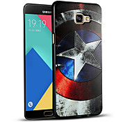 Relief Graphic Pattern Fashion Silicone Material Back Cover for Galaxy A7(2016)